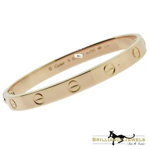 Image Is Loading Cartier Love Bracelet Size 16 New 18k