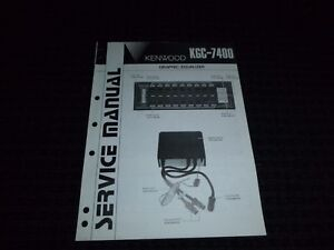 Details about Vtg Original Kenwood Service Manual Model KGC 7400 Graphic  Equalizer