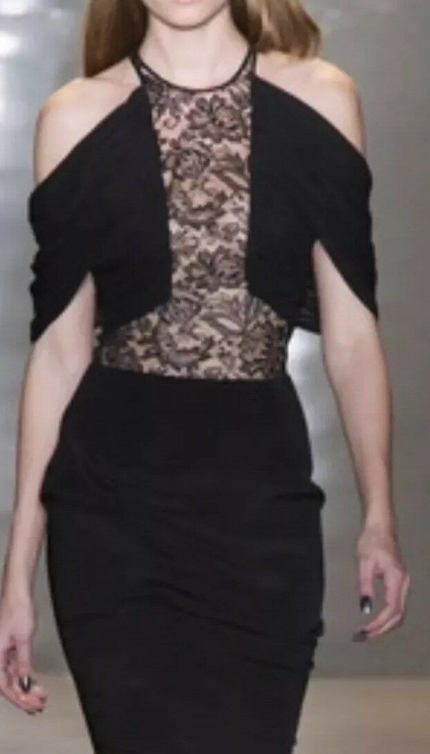 1.695 Cushnie Et Ochs Curve Miami Lace Dress   Size 0