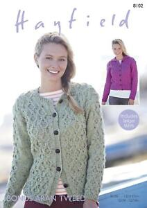 6acb4fce100e Image is loading Sirdar-8102-Knitting-Pattern-Womens-Cardigans-in-Hayfield-