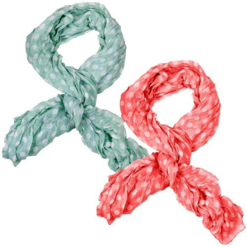 Foulard châle écharpe tube langschal Chiffon Points pois foulard Points Femmes
