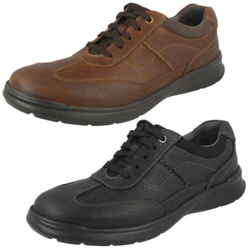 estilo negro aceitoso casuales negro hombre zapatos para Cotrell Clarks IqaBO4W