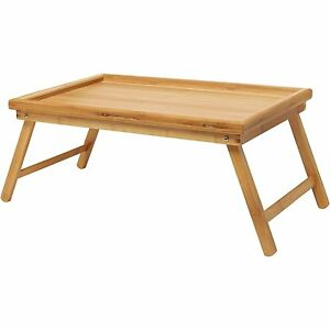 Image Is Loading Bamboo Lap Tray Breakfast Tray Laptop Desk Floor