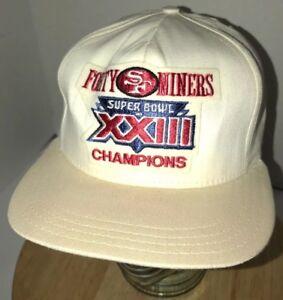 cc0da8d23a36e Details about VTG SAN FRANCISCO 49ers 80s USA AJD Super Bowl XXIII Champions  Hat Cap Snapback