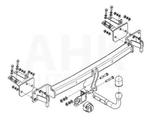 AHK Für BMW 5er Touring E39 97-04 Anhängerkupplung starr Kpl