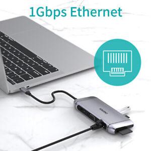 USB-C-Hub-HDMI-Adaptateur-pour-MacBook-Pro-CHOETECH-9-in-1-USB-TypC-Hub-avec-4k-HDMI