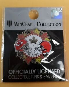 2018 Kansas City Chiefs Vs Cleveland Browns 11 4 18 Game Day Pin Free Shipping Ebay