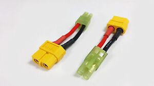 XT60-Female-To-Mini-Tamiya-Male-Charge-Battery-Lead-Adapter-Airsoft-AR-Drone