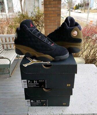 reputable site 6a378 8b9a1 NEW Nike Air Jordan Retro 13 Olive SIZE 6y 6.5y 7y BG XIII Green Kids