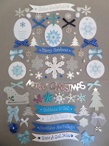 25 Gold Foil Reindeer Christmas Card Making Scrapbook Craft Embellishments