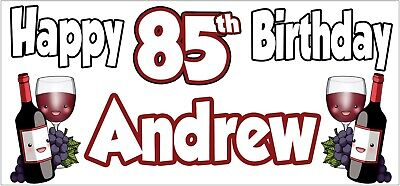 Brandy 85th Birthday Banner x2 Party Decoration Adult Ladies Mens ANY NAME