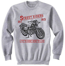 BENELLI 750 SEI - NEW COTTON GREY SWEATSHIRT ALL SIZES IN STOCK