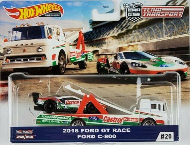 Hot Wheels 2020 Car Culture Team Transport Ford GT Race C-800 Truck