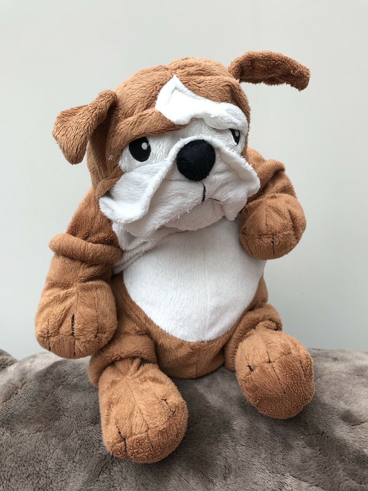 Ikea Klappar Bulldog Dog Soft Toy brown plush chein 15
