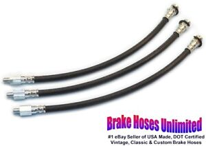 BRAKE-HOSE-SET-Ford-Galaxie-1959-1960-1961-1962-1963-1964