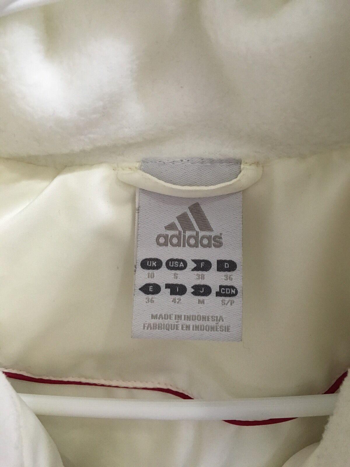ca3e3e3904 Adidas Női fehér kabát, márkájú méret S