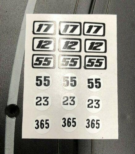 Aurora G PLUS Professionally Printed Decals FERRARI DAYTONA number sheet
