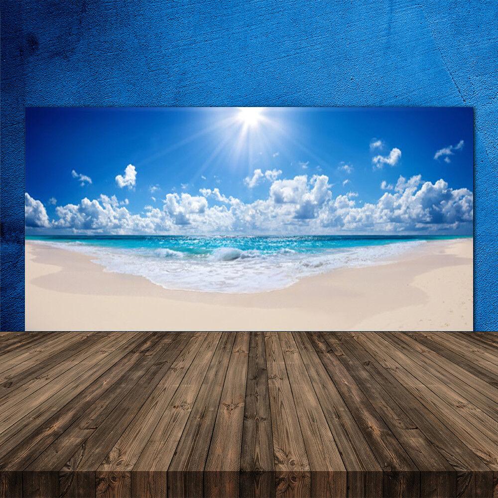 Crédence de cuisine en verre Panneau 120x60 Paysage Plage Soleil Mer