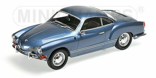 Vw karmann ghia coupé von 1970 blau 1,18 minichamps