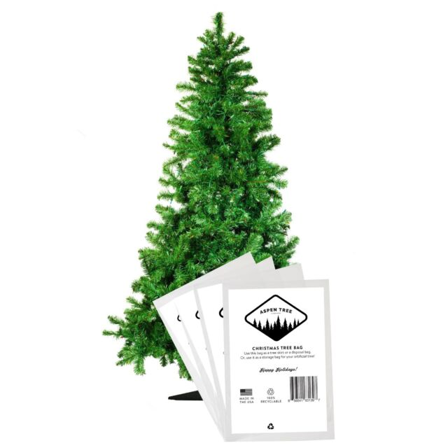 Aspen Tree Co. Christmas Tree Poly Disposal Bag - 12' x 7 ...