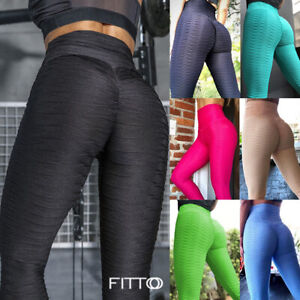 Womens Butt Lift Yoga Pants Fitness Anti Cellulite Leggings Gym Scrunch Trousers