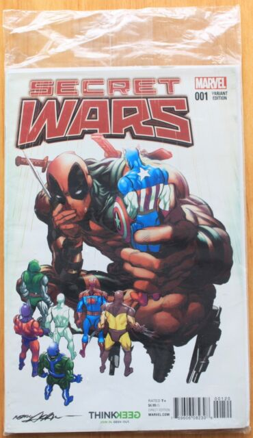 MARVEL COMICS....SECRET WARS 001 VARIANT EDITION...NEW AND SEALED
