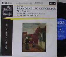"10 inch BACH ""Brandenburger Konzerte Nr 2 & 4"" - Siegfried BARCHET - MÜNCHINGER"