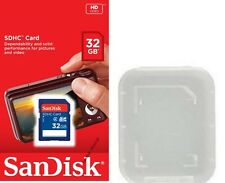 SanDisk 32GB SD 32G SDHC Class 4 C4 SD Camera memory card SDSDB-032G +PP case