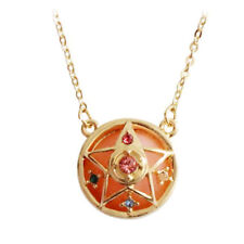 1pc Anime Sailor Moon Star Necklace Rhinestone Pendant Cosplay Jewelry Gift