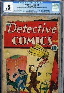 Detective-Comics-39-DC-Comics-May-1940-CGC-0-5-OWW-Vintage-Comic-Book