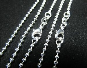 Wholesale Lots Silver Plated Bead 2.4 MM Chains Necklace