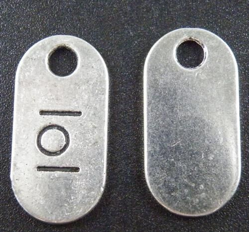 40pcs Tibetan Silver Mixed pack of 7 Texting Abbreviations Charms 26x13x1.5mm