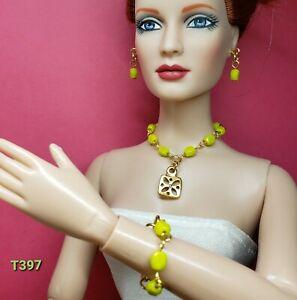 """Handmade Necklace Earrings Jewelry Set Tyler Tonner Ellowyne FR16 16/""""-22/"""" Dolls"""