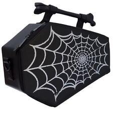 Kreepsville 666 Spiderweb Foil Coffin Bag Purse horror