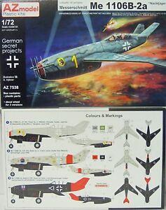 Me-1106-B-2a-034-Nachtjaeger-034-Luftwaffe-1946-AZ-Model-1-72-limitiert-NEU