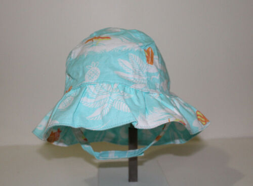 Gymboree Baby Girl Tropical Seashore Turquoise Sun Hat NWT Size 0-6 6-12 Months