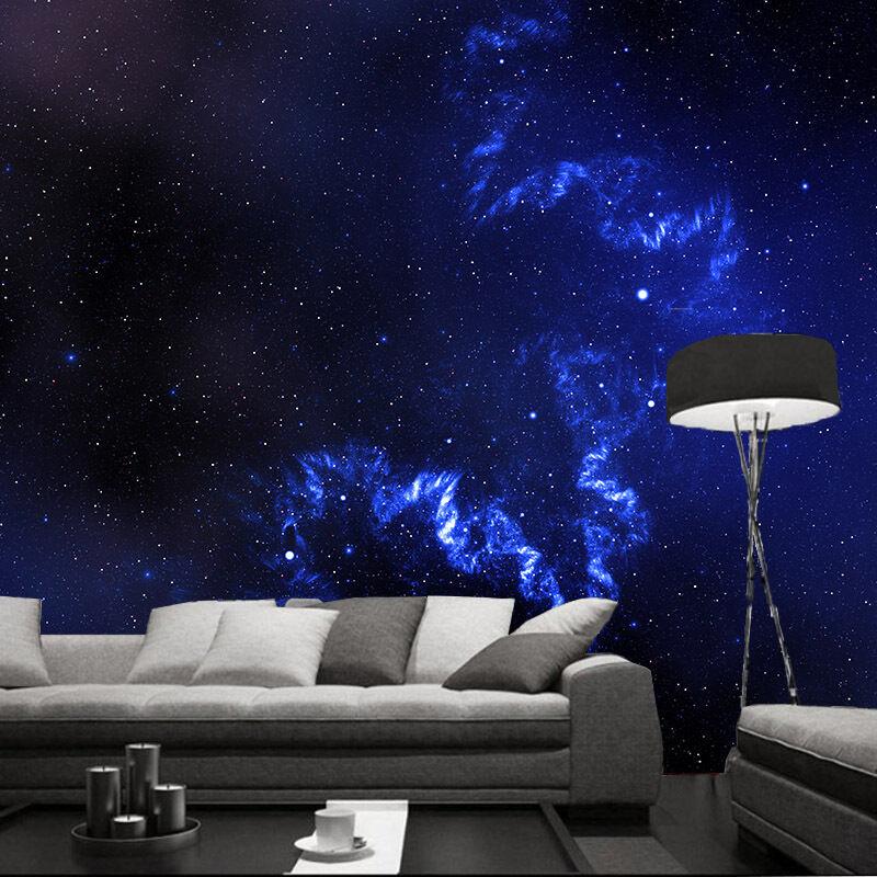 3D blueen Himmel sterne 2  Fototapeten Wandbild Fototapete BildTapete Familie DE