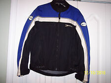 Joe Rocket Men's Blue / Black Mesh Motorcycle Jacket Size S/Small. Liner + Pads