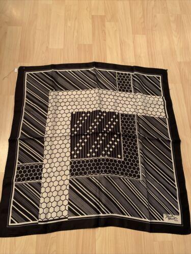 Black and white silk geometric pattern Paul Poiret