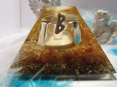 Orgone LAMP with ROSE QUARTZ & CARNELIAN & RUNE BERKANA - SPRINGTIME, LOVE