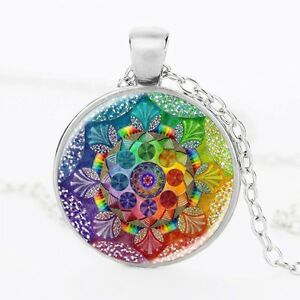 Flower-of-Life-Necklace-Mandala-Meditation-Buddhist-Chakra-Color-Glass
