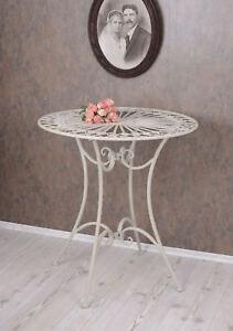 Tavolino stile liberty tavolo da balcone cucina FERRO METALLO BIANCO ...