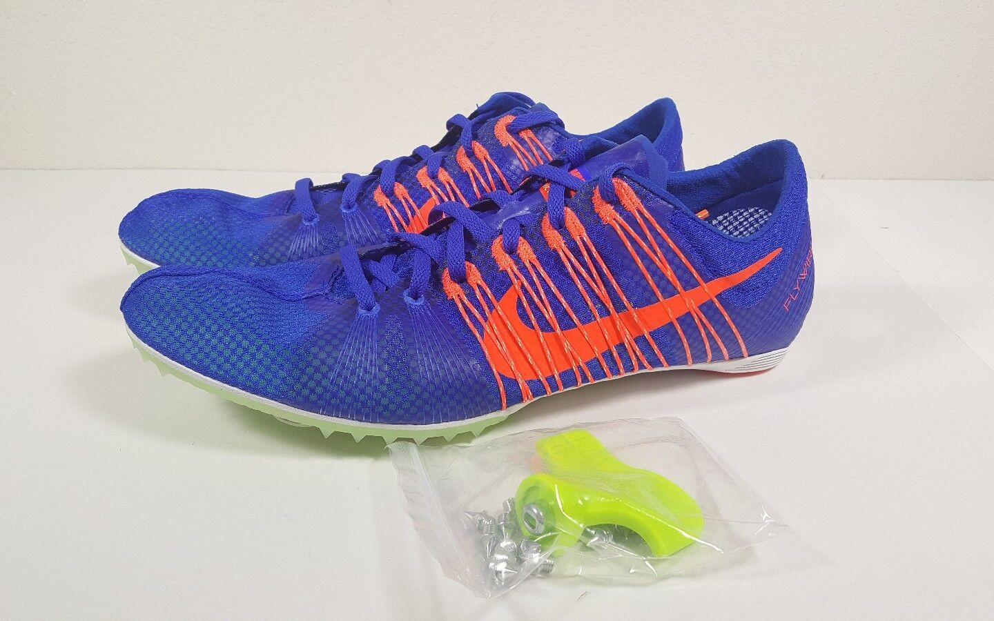Comfortable and good-looking Nike Zoom Victory 2 Track Field Spikes Shoes Blue/Orange Comfortable