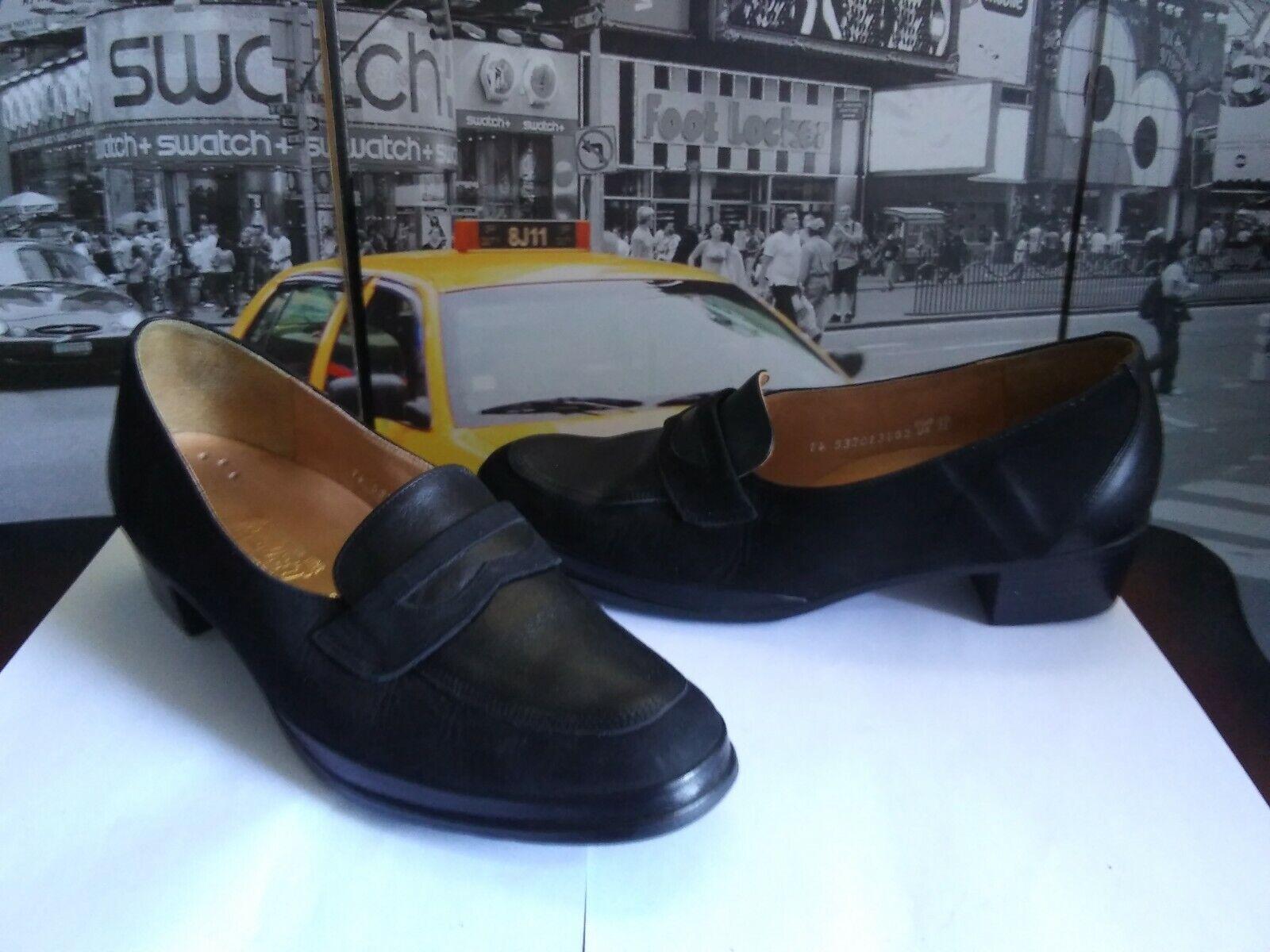 migliore marca Mephisto France  donna Suede Leather nero Block Heel Heel Heel Pumps   11 M. Rare  risparmia il 35% - 70% di sconto