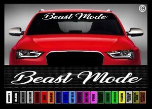 40 Beast Mode 3 Jdm 4x4 Lifted Truck Muscle Car Decal Sticker