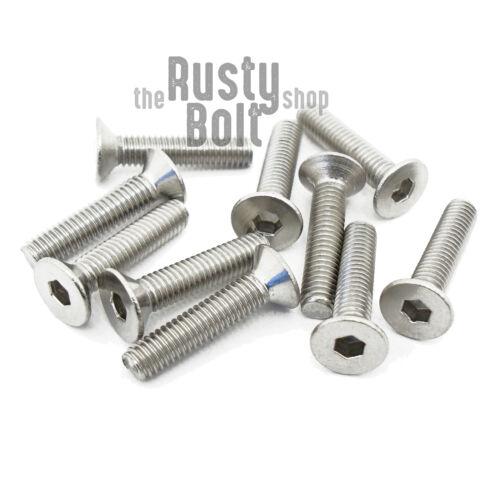 Socket Flat Head Screws Stainless Steel A2 304 18-8 M3 x 14mm