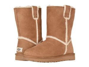 98635447148 Women UGG Classic Short Spill Seam Boot 1098078 Chestnut Suede 100 ...