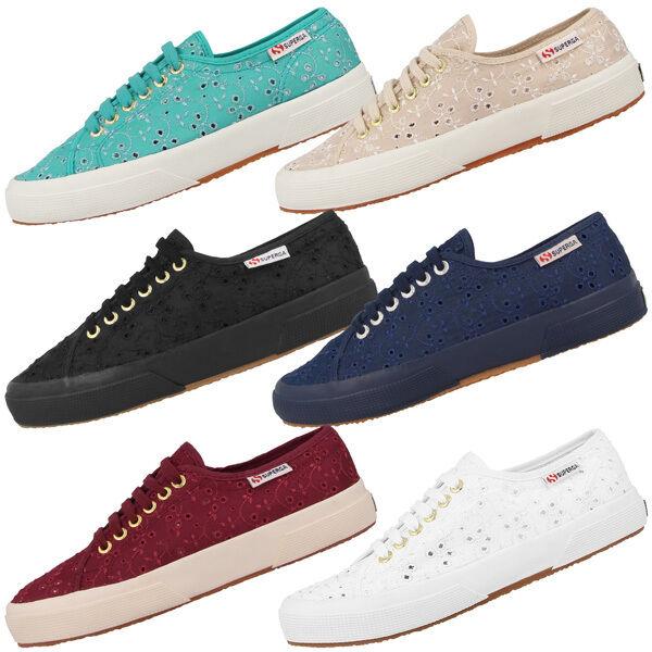 Superga 2750 Sangallo Satin Satin Sangallo Women Damen Schuhe S008C40 Fashion Sneaker Macramew 146151