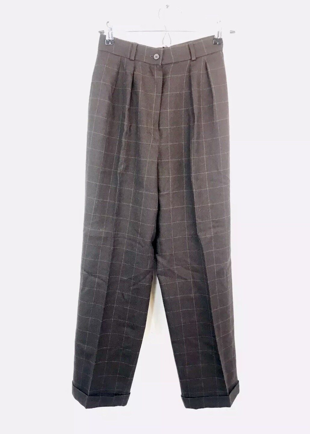 Vintage Ralph Lauren 100% Worsted Wool Plaid Pants 4P Made In U.S.A EUC