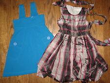 Girls lot 4-5 summer Crewcuts silk organza cotton dressy dress jumper holiday